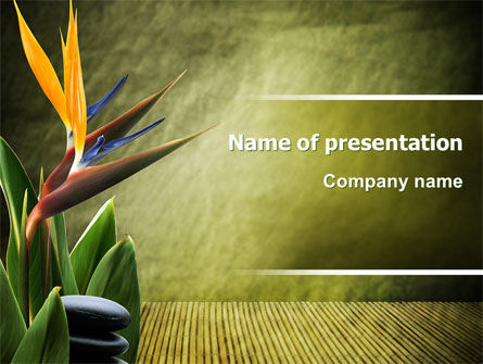 Health and Recreation: Exotic Flower PowerPoint Template #06067