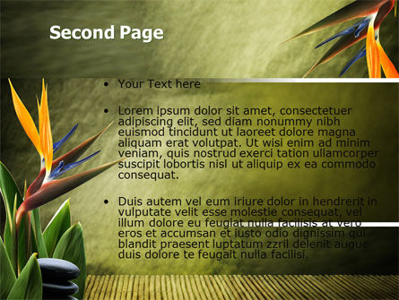 Exotic Flower PowerPoint Template, Slide 2, 06067, Health and Recreation — PoweredTemplate.com