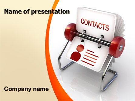 Contacts Stand PowerPoint Template