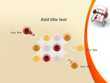Contacts Stand PowerPoint Template Slide 10
