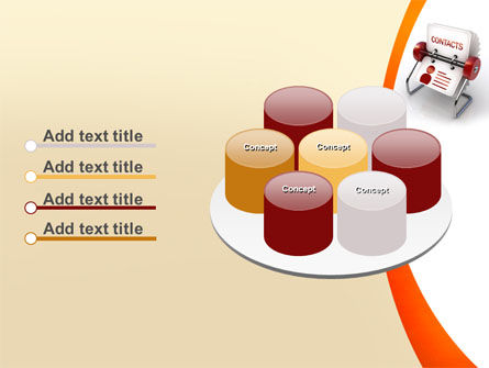 Contacts Stand PowerPoint Template Slide 12