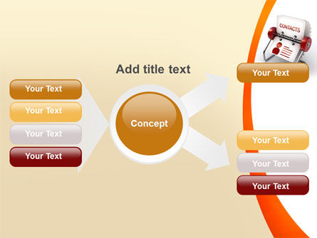 Contacts Stand PowerPoint Template Slide 15
