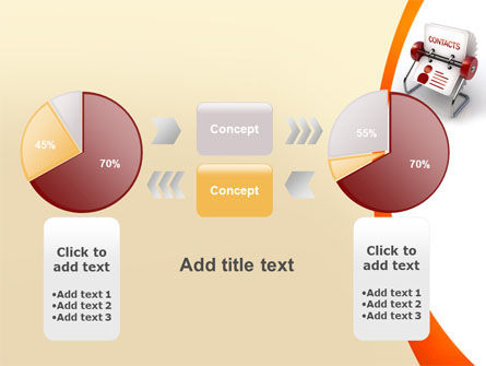 Contacts Stand PowerPoint Template Slide 16