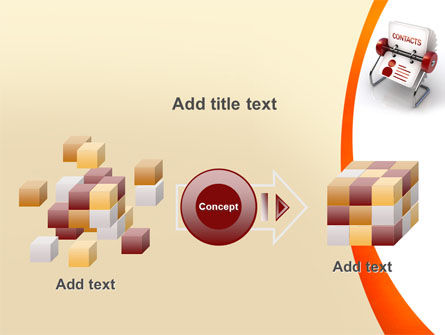Contacts Stand PowerPoint Template Slide 17