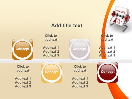 Contacts Stand PowerPoint Template Slide 18