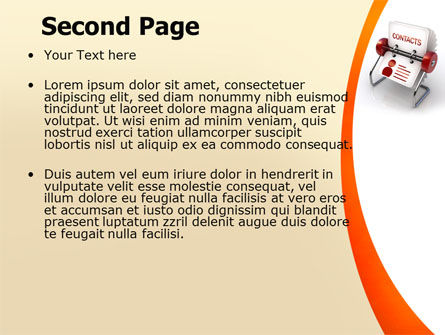 Contacts Stand PowerPoint Template Slide 2