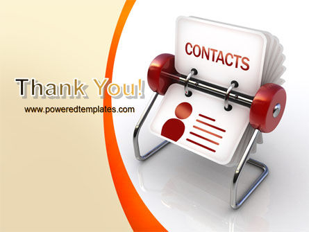 Contacts Stand PowerPoint Template Slide 20