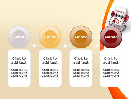 Contacts Stand PowerPoint Template Slide 5