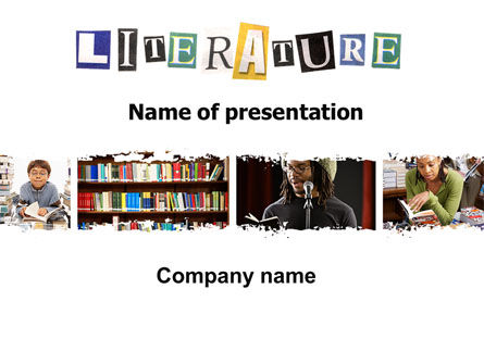Literature PowerPoint Template, 06069, Education & Training — PoweredTemplate.com