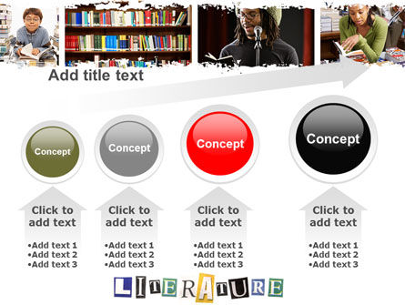 Literature PowerPoint Template Slide 13