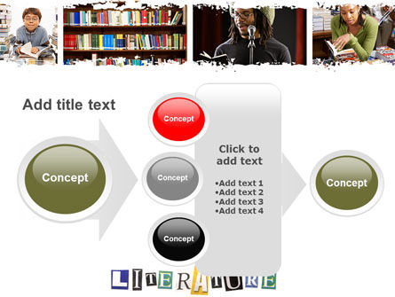 Literature PowerPoint Template Slide 17