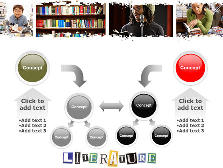 Literature PowerPoint Template Slide 19
