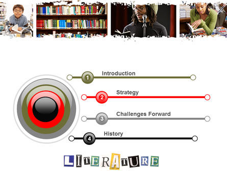 Literature PowerPoint Template, Slide 3, 06069, Education & Training — PoweredTemplate.com
