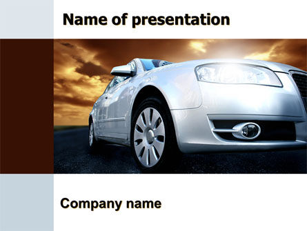 Open Road PowerPoint Template, 06070, Cars and Transportation — PoweredTemplate.com