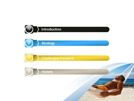 Hammock Free PowerPoint Template, Slide 3, 06071, Careers/Industry — PoweredTemplate.com