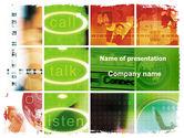 Telecommunication: Plantilla de PowerPoint - mesa de ayuda #06072