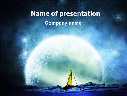 Nature & Environment: Moonlit PowerPoint Template #06075