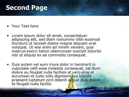 Moonlit PowerPoint Template, Slide 2, 06075, Nature & Environment — PoweredTemplate.com