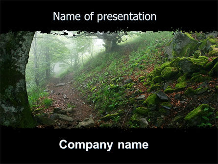 Nature & Environment: Deep Woods PowerPoint Template #06077