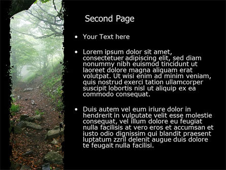 Deep Woods PowerPoint Template, Slide 2, 06077, Nature & Environment — PoweredTemplate.com
