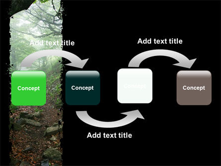 Deep Woods PowerPoint Template, Slide 4, 06077, Nature & Environment — PoweredTemplate.com