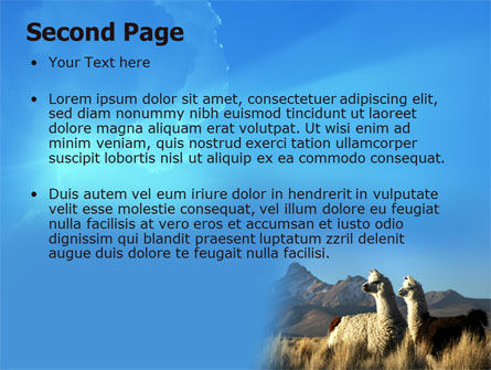 Llama PowerPoint Template Slide 2