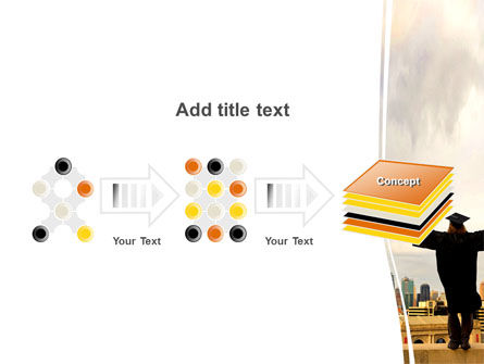 Graduator On The Roof PowerPoint Template Slide 9