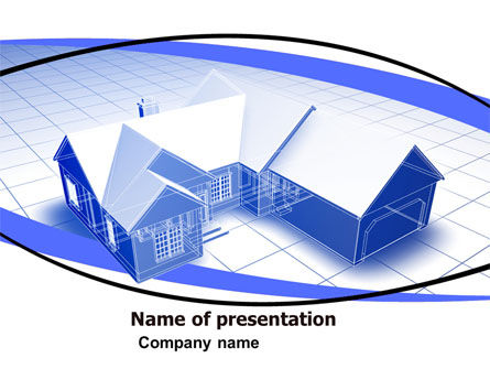 Construction: House Plan PowerPoint Template #06085