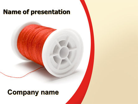 Careers/Industry: Spool PowerPoint Template #06088