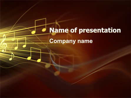 Music Stave PowerPoint Template