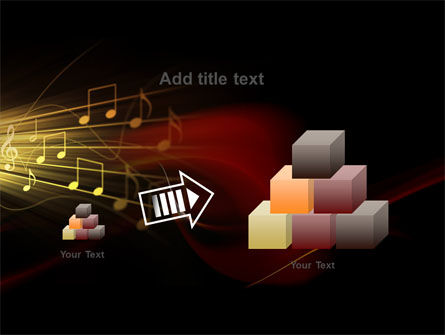 Music Stave PowerPoint Template Slide 13