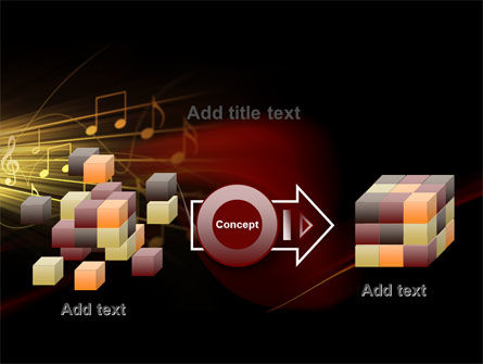 Music Stave PowerPoint Template Slide 17