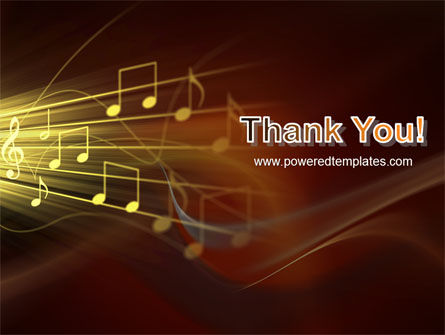 Music Stave PowerPoint Template Slide 20