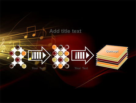 Music Stave PowerPoint Template Slide 9