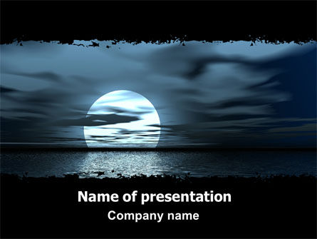 Nature & Environment: Moonrise PowerPoint Template #06090