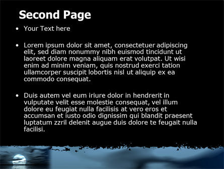 Moonrise PowerPoint Template, Slide 2, 06090, Nature & Environment — PoweredTemplate.com