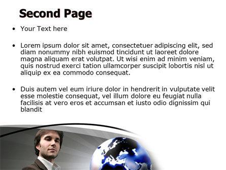 Holding Globe PowerPoint Template Slide 2
