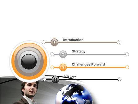 Holding Globe PowerPoint Template Slide 3
