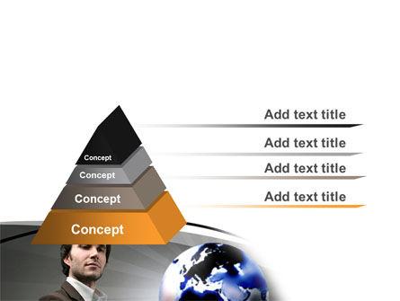 Holding Globe PowerPoint Template Slide 4