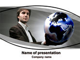 Business Concepts: Holding Globe PowerPoint Template #06091