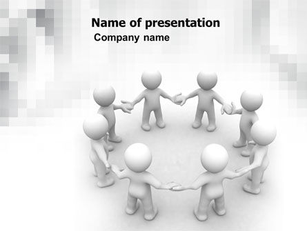 Togetherness PowerPoint Template, 06092, 3D — PoweredTemplate.com