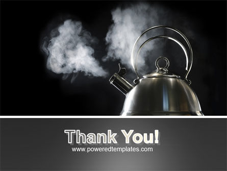 Boiling Kettle At The Kitchen PowerPoint Template Slide 20