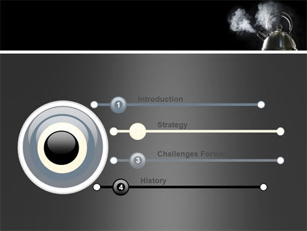 Boiling Kettle At The Kitchen PowerPoint Template Slide 3