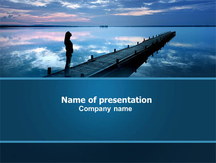 Religious/Spiritual: Evening Pier PowerPoint Template #06094