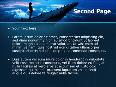 Evening Pier PowerPoint Template Slide 2