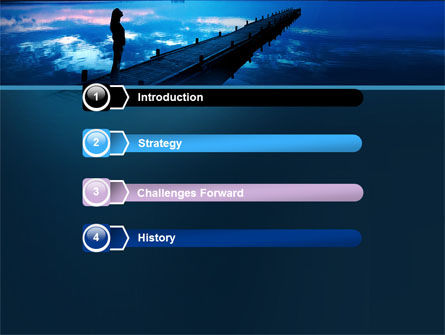 Evening Pier PowerPoint Template Slide 3