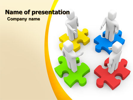 Business Concepts: Working Relationship PowerPoint Template #06096