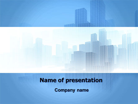 Cityscapes PowerPoint Template, 06098, Construction — PoweredTemplate.com