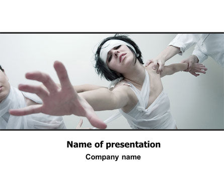 Asylum PowerPoint Template, 06101, Medical — PoweredTemplate.com