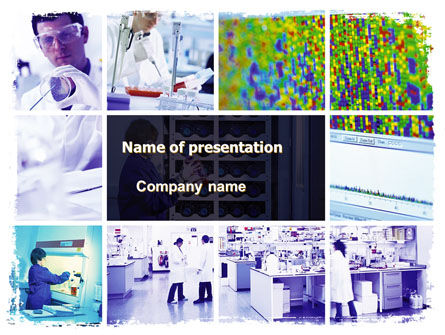 Mass Laboratory Testing PowerPoint Template, 06102, Technology and Science — PoweredTemplate.com